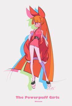 The Powerpuff Girls Cartoon As Anime, Cartoon Kunst, Cartoon Art, Character Concept, Character Art, Super Nana, Desenhos Cartoon Network, Ppg And Rrb, Cute Art Styles