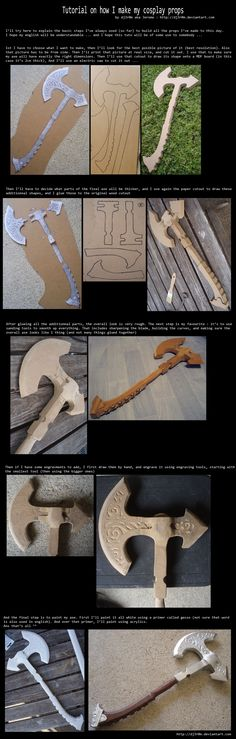 Tutorial on how I make my cosplay props by Dj3r0m.deviantart.com on @deviantART