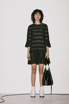 Women's September Lookbook Look 7: Dakota Ruffle Dress, Ray Lea Bucket Bag, Haze Boot