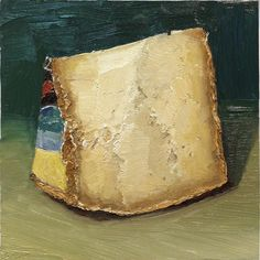 Fiore Sardo cheese painting by Mike Geno