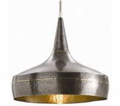 Arteriors Mason Wide Hammered Iron Pendant on sale. The Mason Pendant from Arteriors offers a hammered iron design in a dark silver and brass finish. Eclectic Pendant Lighting, Large Pendant Lighting, Brass Pendant Light, Pendant Lamp, Pendant Lights, Industrial Lighting, Design Industrial, Industrial Bedroom, Ceiling Pendant