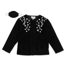 This floral coat is as close to a hug as a sweater can get. It's classy round neckline, full-sleeves coat comes with soft buttoned enclosure, playful frills and cute pockets. The delicate, contrasting floral embroidery makes it a winter wardrobe staple. Fabric: Velvet Color: Black Length: Regular Length Neck: Regular Length Sleeve: Full Sleeves Pattern-Work: Full Sleeves Washcare: Full Sleeves Girls Coats & Jackets, Cute Stockings, Velvet Color, Suede Coat, Suede Fabric, Winter Wardrobe, Wardrobe Staples, Snug, Cherry Crumble