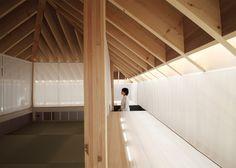 Tea room and veranda feature in Katsutoshi Sasaki's Wengawa House