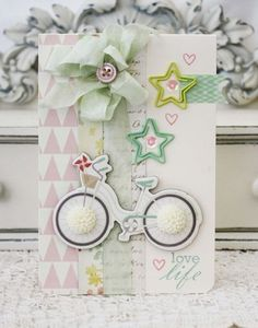 Melissa Philips; fab use of embellishments. Love that bike