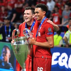 Andy Robertson and Trent Alexander-Arnold. Liverpool FC defence. Champions of Europe