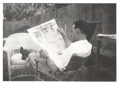 "Vintage Snapshot ""The Bakersfield Californian"" Newspaper Man Reading Sunday Paper Wicker Chairs Wooden Fence Found Vernacular Photo by SunshineVintagePhoto on Etsy https://www.etsy.com/listing/487955890/vintage-snapshot-the-bakersfield"