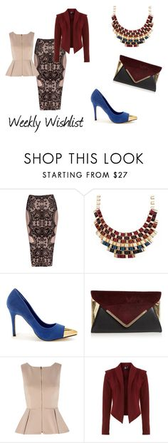 """Weekly Wishlist 38"" by mellella ❤ liked on Polyvore featuring Jane Norman, Shuz, Faith, AX Paris and Izabel London"