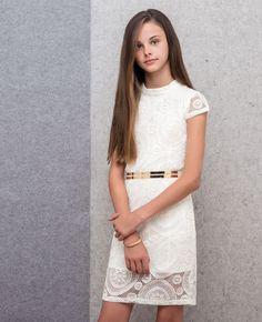 Girl's Rococo Lace Dress - Bardot Junior