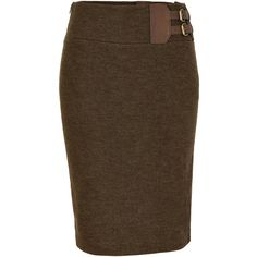 RALPH LAUREN Fraser Wool Tweed Jackson Pencil Skirt ($365) ❤ liked on Polyvore