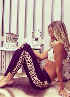 Leopard leggings <3