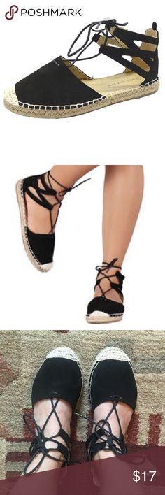 Black Espadrilles  Like new! I only wore a few times. Very comfortable! Wild Diva Shoes Sandals