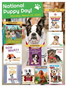 Puppy+Day Library Activities, National Puppy Day, Book Suggestions, What To Read, Puppy Pictures, Nonfiction Books, Rescue Dogs, Dogs And Puppies, French Bulldog