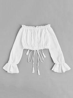 Off Shoulder Drawstring Split BlouseFor Women-romwe - Off Shoulder Drawstring Split BlouseFor Women-romwe Source by roshanpourvesta - Teenage Girl Outfits, Girls Fashion Clothes, Teen Fashion Outfits, Outfits For Teens, Girl Fashion, Cute Summer Outfits, Cute Casual Outfits, Pretty Outfits, Stylish Outfits
