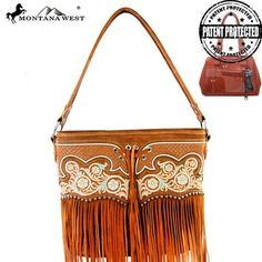 Montana West Fringe Collection Concealed Tote