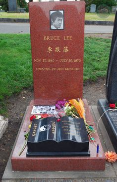 Bruce Lee Grave Site in Seattle Bruce Lee Family, Party Jokes, Jeet Kune Do, Bruce Lee Photos, James Lee, Dark Artwork, Brandon Lee, Think And Grow Rich, Lake View