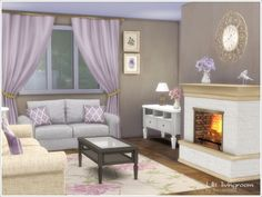 A set of furniture and decor for the living room in classic style  Found in TSR Category 'Sims 4 Downloads'