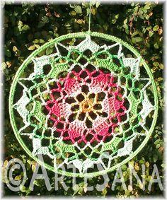 Mandalas Colgantes Tejidos Al Crochet - $ 90,00