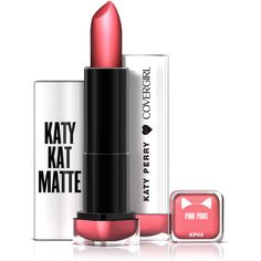 COVERGIRL Katy Kat Matte Lipstick Pink Paws, .12 oz created by Katy... ($6.94) ❤ liked on Polyvore featuring beauty products, makeup, lip makeup and lipstick