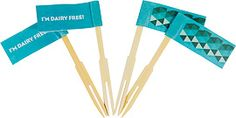 I'm dairy free  pack of 25 food flags  $5.95 Colour coded for kids with food allergies