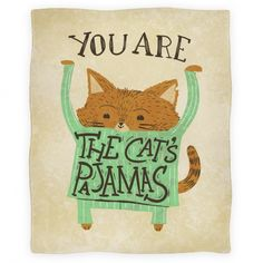 Cat's Pajamas Blanket   HUMAN ---- I waaaant this blanket!! HOW stinking cute is it?!