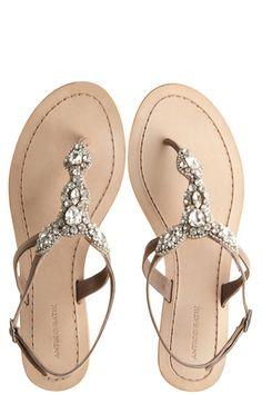 Akan Natural Rhinestone Thong Sandal::SHOES::ACCESSORIES::Calypso St. Barth....I soooooo want these little jeweled sandals :)