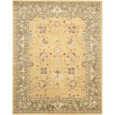 @Overstock - An ancient pot-dying technique and dense, thick pile highlight this hand-spun traditional rug. Premium wool is used with a luster wash finish to give it a soft silky finish.http://www.overstock.com/Home-Garden/Handmade-Traditions-Gold-Sage-Wool-Rug-76-x-96/6440753/product.html?CID=214117 $361.99