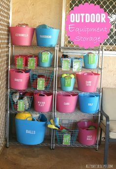 Home For4 Sweet Home: Get Inspired   Outdoor Toys Storage