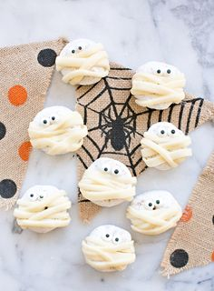 Spooky and Sweet Mummy Donuts. Cute and Easy Halloween treat for kids.