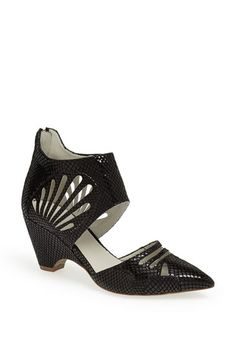 Plomo 'Ceci' Snake Embossed Leather Pump available at #Nordstrom