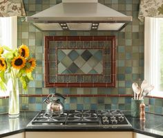 Contemporary U-shaped kitchen, cabinets, Thomas Buckborough & Associates, Boston