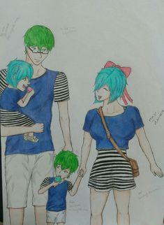 Desenho de minha autoria :3 um shipp meio que inexistente MEIDORIMA (Mei de Kanojo ga flag wo oraretara e Midorima de Kuroko no basket)