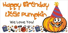 Birthday Pumpkin Banner, personalized