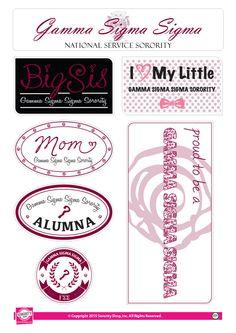 Gamma Sigma Sigma Family Stickers