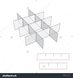 Box Dividers With Die Cut Layout Stock Vector Illustration 192752684 : Shutterstock