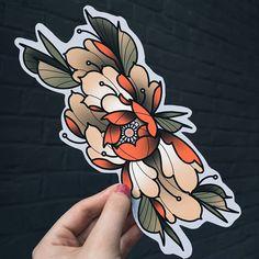Traditional Tattoo Flowers, Traditional Tattoo Design, Traditional Japanese Tattoos, Japanese Flower Tattoo, Japanese Flowers, Tattoo Drawings, Body Art Tattoos, Sleeve Tattoos, Flower Tattoo Designs