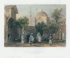 Turkey, Constantinople, Mosque of Osmanie, 1838