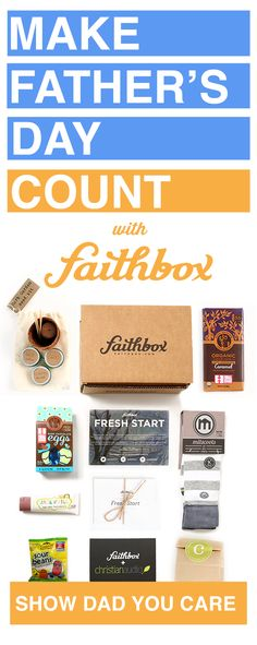 Make Father's Day count this year with a subscription to Faithbox! Christian reflections, curated scriptures, and amazing products that embody Christian ideals!