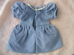BLEUETTE-Robe-en-serge-bleu-gris-fabrication-originale-Gautier-Languereau