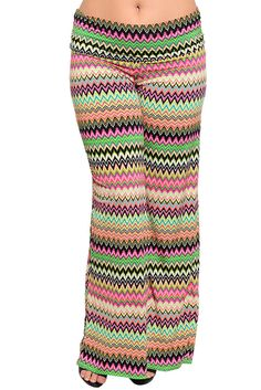 DHStyles Women's Green Fuchsia Plus Size Trendy Chevron Print Wide Leg Palazzo Pants - 1X #sexytops #clubclothes #sexydresses #fashionablesexydress #sexyshirts #sexyclothes #cocktaildresses #clubwear #cheapsexydresses #clubdresses #cheaptops #partytops #partydress #haltertops #cocktaildresses #partydresses #minidress #nightclubclothes #hotfashion #juniorsclothing #cocktaildress #glamclothing #sexytop #womensclothes #clubbingclothes #juniorsclothes #juniorclothes #trendyclothing #minidresses…