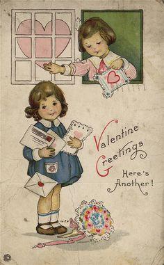 Valentine postcard. Year unknown.