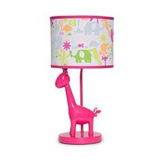 Safari Brights Hot Pink Giraffe Girls Lamp w Colorful Jungle Animals by Carters Giraffe Lamp, Pink Giraffe, Childrens Lamps, Bright Nursery, Kids Lamps, Energy Efficient Lighting, Room Lamp, Mirror With Lights, Nursery Themes