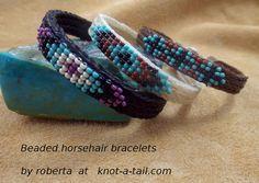 Südwest-Entwurf Pferd Haar Armband Perlen von Knotatail auf Etsy