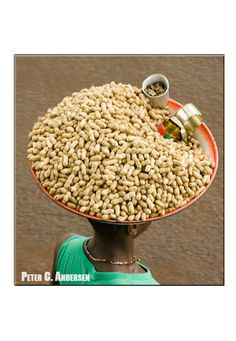 Selling groundnuts in downtown Freetown.