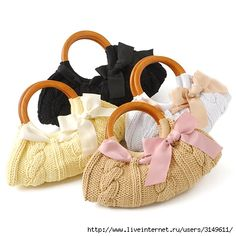 A large collection of knitted & crocheted handbag ideas. No instructions, but lots of inspiration!