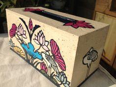 Handmade Hanji paper Tissue Case with Intricate by HanjiNaty, $49.00