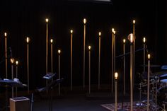 Adam Carmichael from Santa Cruz Bible Church in Santa Cruz brings us these light poles The inspiration for this set came from some cool live band sets they. Edison Lighting, Retro Lighting, Stage Lighting, Lighting Design, Stage Set Design, Church Stage Design, Bühnen Design, Design Ideas, Christmas Stage Design