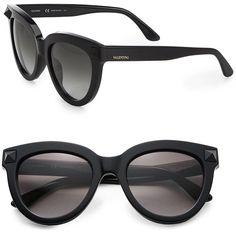 a8668de064c8f Valentino Rock Stud 52MM Cat s-Eye Sunglasses Valentino Sunglasses