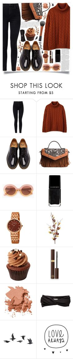 """style"" by lena-volodivchyk ❤ liked on Polyvore featuring J Brand, Dr. Martens, Max&Co., Bruno Magli, Tom Ford, Bobbi Brown Cosmetics, Eugenia Kim and Jayson Home"