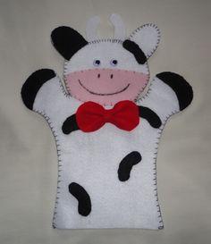 Felt Puppet Cow.