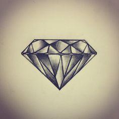 Diamant Tattoo Skizze / Zeichnung von – Ranz - Tattoo Design And Ideas Elegant Tattoos, Trendy Tattoos, Cool Tattoos, Rose Tattoos For Women, Tattoos For Guys, Diamonds Tattoo, Tattoo Diamond, Diamond Tattoo Designs, New Tattoo Designs